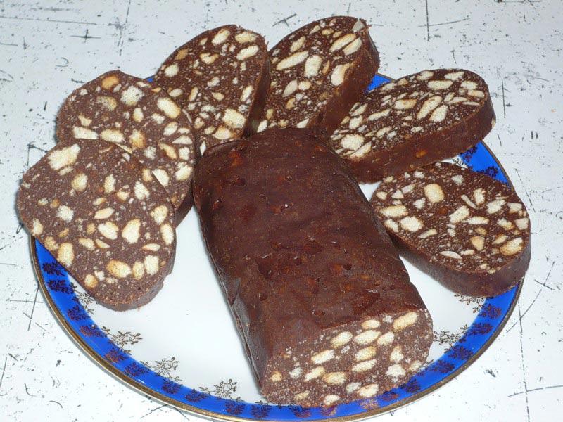 Сладкие колбаски из печенья рецепт с пошагово